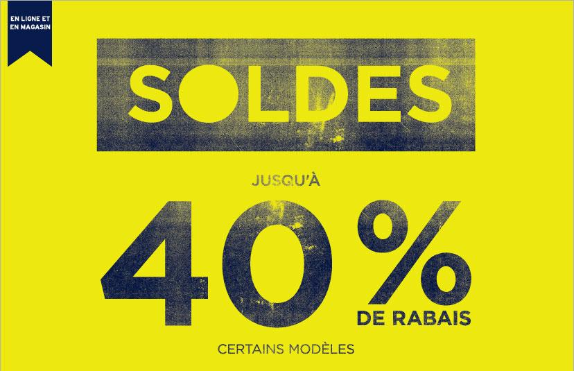 EN LIGNE ET EN MAGASIN | SOLDE JUSQU'À 40 % DE RABAIS
